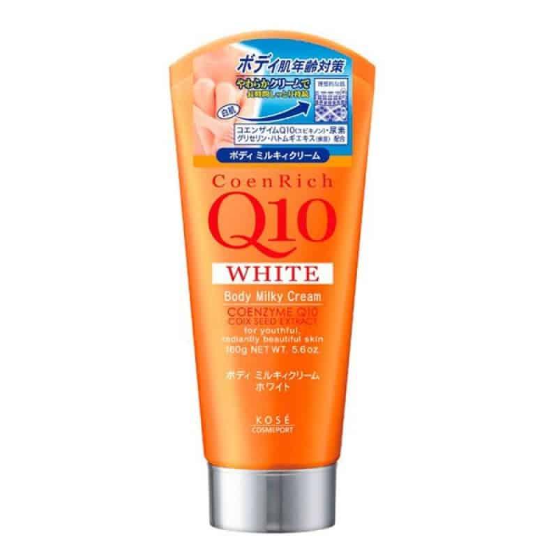 coenrich q10 white body milky cream cua kose nhat ban