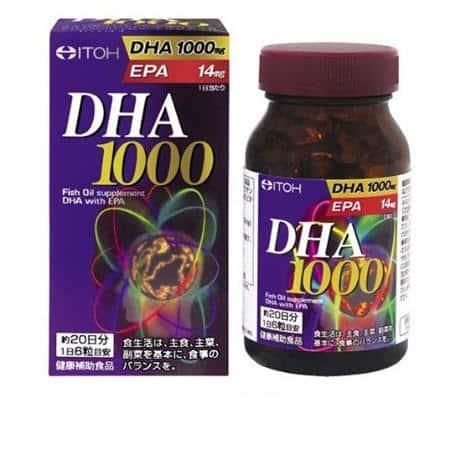 Thuốc bổ não DHA 1000mg & EPA 14mg ITOH 120 viên Nhật 2021 2022
