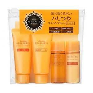 bo shiseido aqualabel mau vang cho da lao hoa