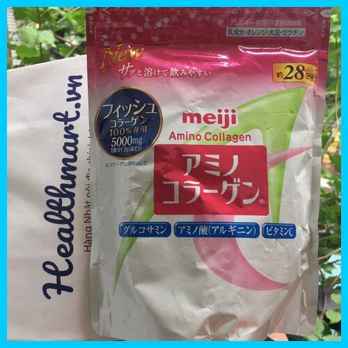 Review collagen meiji hồng của Nhật 2021 2022