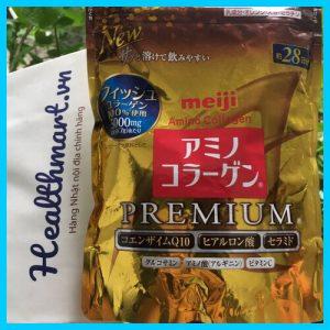 Bột collagen meiji premium vàng 2021 2022